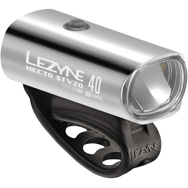 Lezyne Hecto Drive 40 Frontlicht StVZO Y11 silber-glänzend/weiß