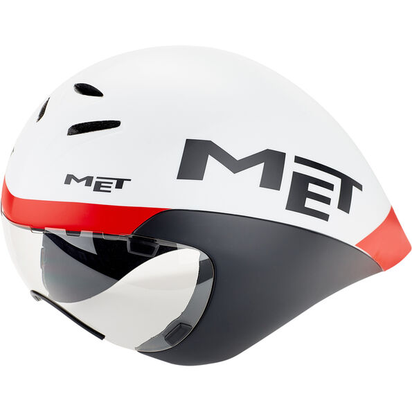 MET Drone Helm white/black/red
