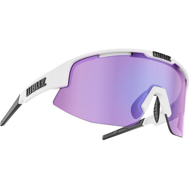 Bliz Matrix M11 Brille matt white /brown with purple multi