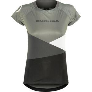Endura SingleTrack Core Print Trikot kurzarm Damen schwarz schwarz