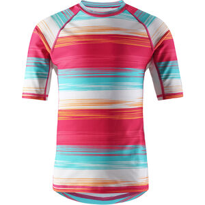 Reima Ionian Swim Shirts Mädchen candy pink/streifen candy pink/streifen