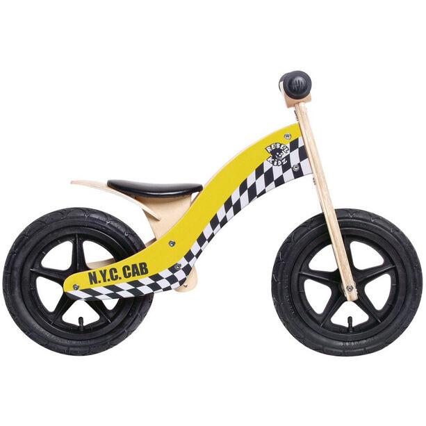 "Rebel Kidz Wood Air Laufrad 12"" Kinder taxi/gelb"