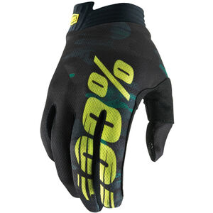 100% iTrack Gloves camo black/green camo black/green