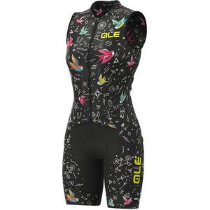 Alé Cycling Graphics PRR Versilia Ärmelloses Ganzkörpertrikot Damen black black