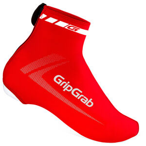 GripGrab RaceAero Lightweight Lycra Shoe Cover red red