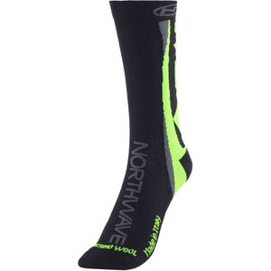 Northwave Extreme Winter High Socks Black/Green Fluo bei fahrrad.de Online