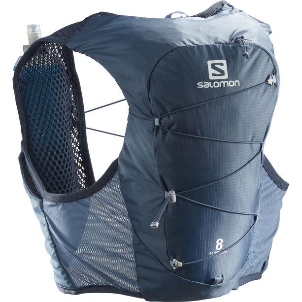 Salomon Active Skin 8 Trinkrucksack copen blue/dark denim