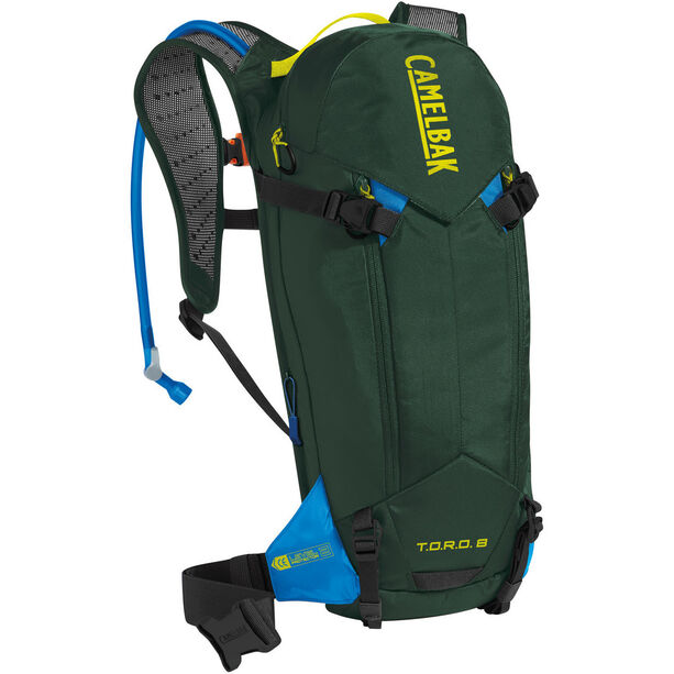 CamelBak T.O.R.O. Protector 8 Backpack dry deep forest/brilliant blue
