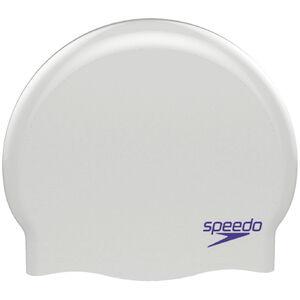 speedo Plain Moulded Silicone Cap Kinder white/purple
