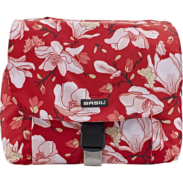 Basil Magnolia S Doppel-Gepäckträgertasche 25l poppy red