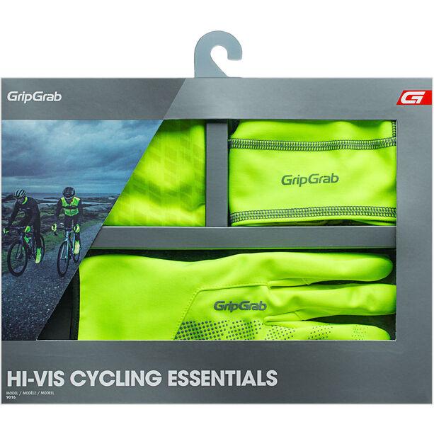 GripGrab Hi-Vis Cycling Essentials Geschenkbox 3er Pack yellow hi-vis