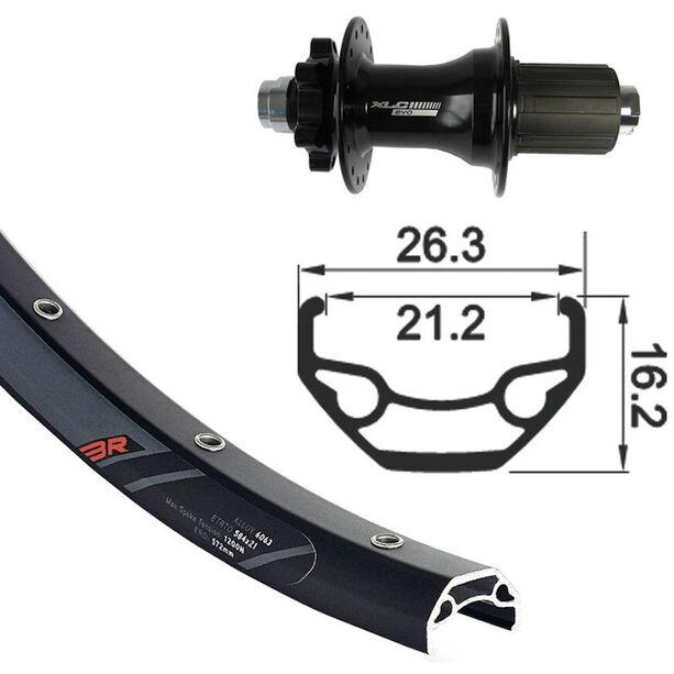 """XLC Rodi Black Rock Hinterrad 29"""" Disc 6-Loch TA 12mm black"""