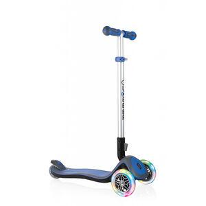 Globber Elite Deluxe Roller mit Batterielosen LED Rollen Kinder navy blue navy blue