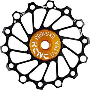 KCNC Jockey Wheel SS Bearing Narrow Wide 14 Zähne black black