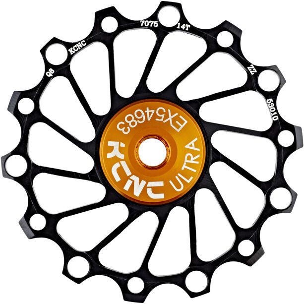 KCNC Jockey Wheel SS Bearing Narrow Wide 14 Zähne black