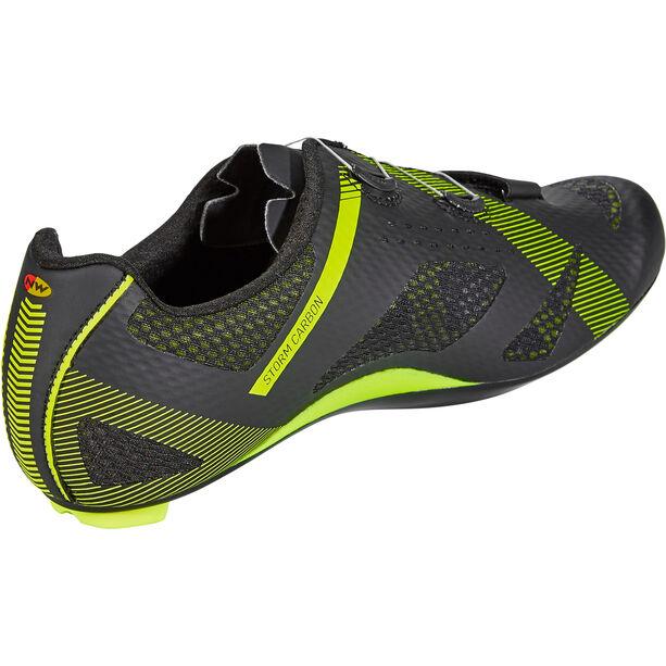 Northwave Storm Carbon Shoes Herren black/yellow fluo