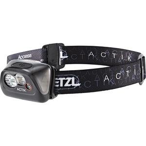 Petzl Actik Stirnlampe schwarz schwarz