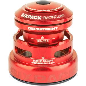 Sixpack Department 2In1 Steuersatz EC3449/28.6 I EC49/30 and EC34/28.6 I EC49/40 red