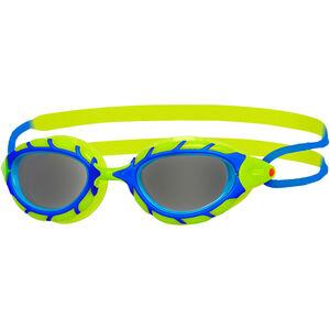 Zoggs Predator Goggles Kinder blue/lime/smoke blue/lime/smoke
