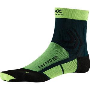 X-Socks Bike Pro Mid Socks phyton yellow/pine green phyton yellow/pine green