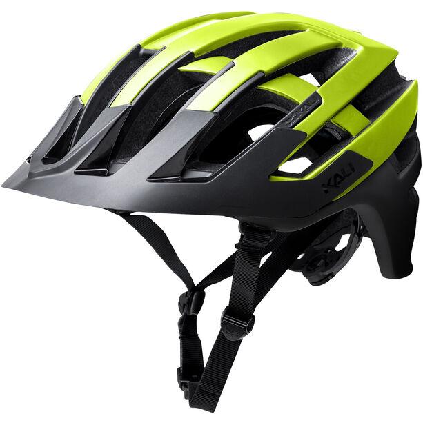 Kali Interceptor Helm matt neon gelb/schwarz