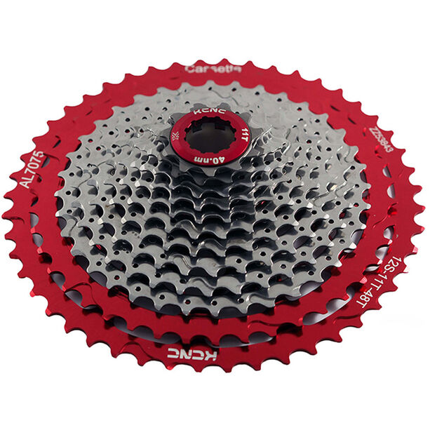 NOW8 Mezo Cassette 12-speed for Shimano silver/red