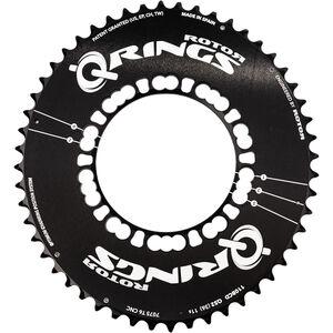 Rotor Q-Ring Road Aero Kettenblatt 110mm 5-Arm außen schwarz schwarz