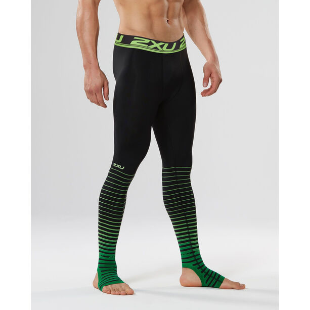 2XU Power Recharge Recovery Tights Herren black/green