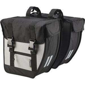 Basil Tour Doppel-Gepäckträgertasche XL schwarz/silber schwarz/silber