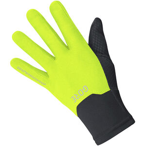 GORE WEAR Windstopper Gloves black/neon yellow