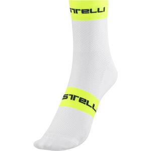 Castelli Free 9 Socks white/yellow fluo bei fahrrad.de Online