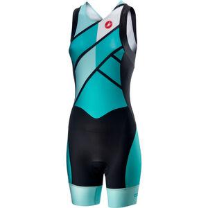 Castelli Short Distance Race Suit Damen turquoise/green