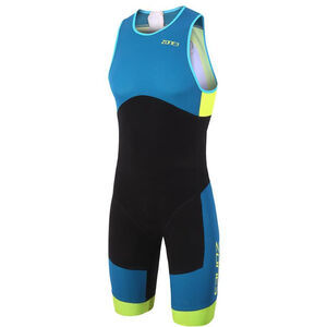 Zone3 Aeroforce Sub 220 ITU Design Reverse Zip Trisuit Herren black/teal/yellow black/teal/yellow