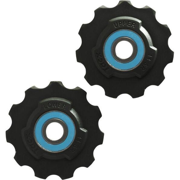 Tacx Schaltungsrädchen Ceramic/Teflon Si3N4 11 Zähne SRAM Race schwarz/türkis
