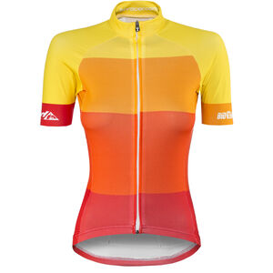Red Cycling Products Colorblock Race Jersey Damen red-yellow red-yellow
