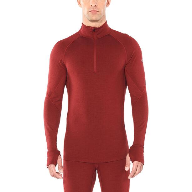 Icebreaker 260 Zone Langarm Half Zip Shirt Herren cabernet/chili red