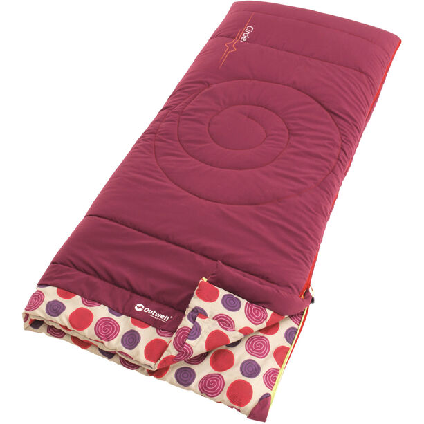 Outwell Circles Sleeping Bag Kinder berry