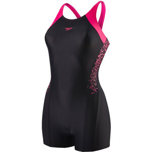 speedo Boom Splice Legsuit Mädchen black/electric pink black/electric pink