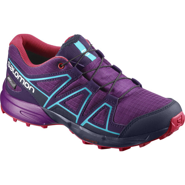 Salomon Speedcross CS WP Trailrunning Shoes Kinder Grape Juice/Evening Blue/Blue Bird