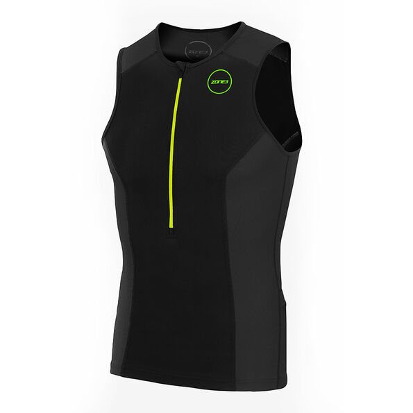 Zone3 Aquaflo Plus Top Herren black/grey/neon green