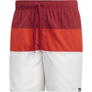 adidas Colourblock SL Badeshorts Herren active maroon/active orange active maroon/active orange