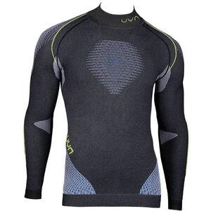 UYN Evolutyon Melange UW LS Turtle Neck Shirt Men Anthracite Melange/Blue/Yellow Shiny bei fahrrad.de Online