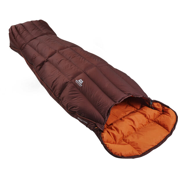 Mountain Equipment Dreamcatcher Sleeping Bag Damen dark chocolate/blaze