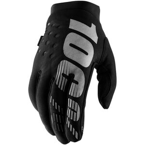 100% Brisker Cold Weather Gloves black/grey black/grey