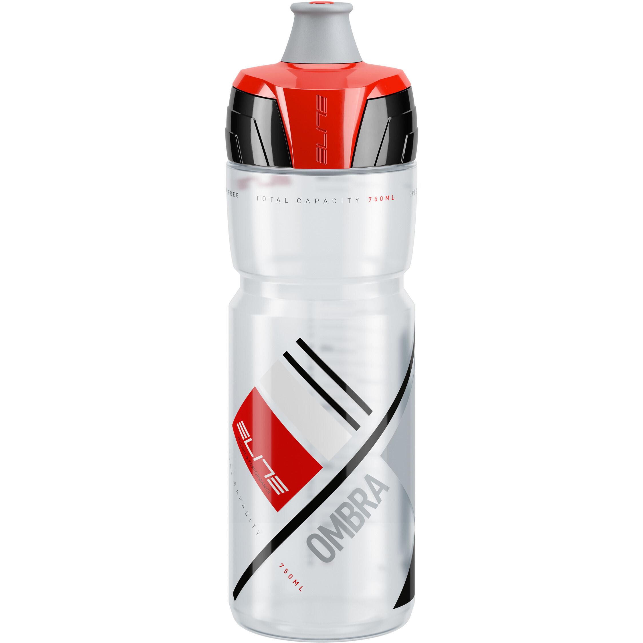 Trinkflasche Haibike 750 ml transparent mit Aufdruck Schraubverschluss