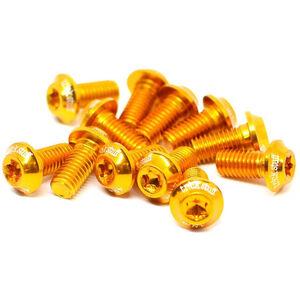 Trickstuff Ultraleichte-Bremsscheibenschrauben Aluminium M5x10 T20 12 Stück gold