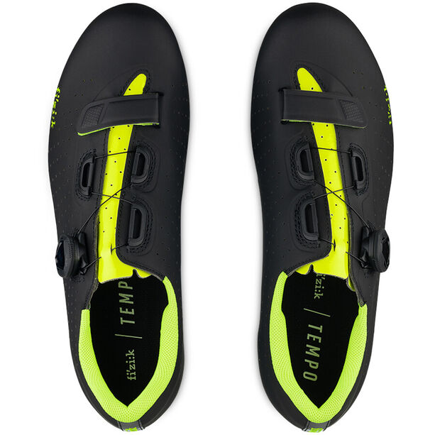 Fizik Tempo R5 Overcurve Fahrradschuhe black/yellow