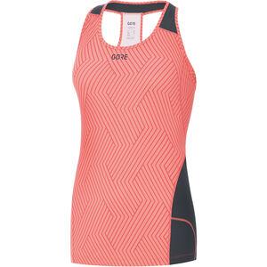 GORE WEAR R3 Optiline Sleeveless Shirt Women print lumi orange/castor grey bei fahrrad.de Online