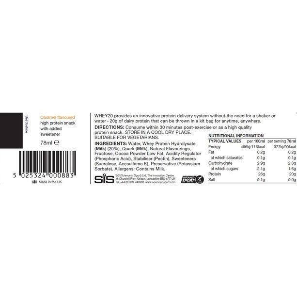 SiS Whey20 Protein Snack Box 12x78ml Caramel