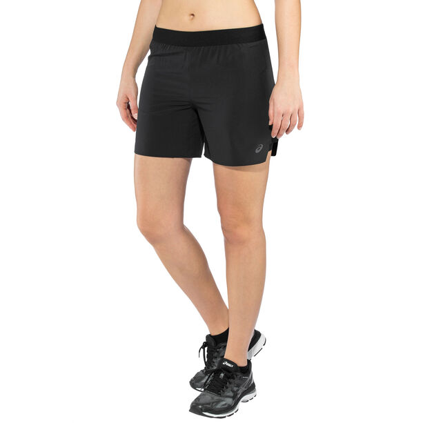 "asics 2-N-1 5"" Shorts Damen performance black"